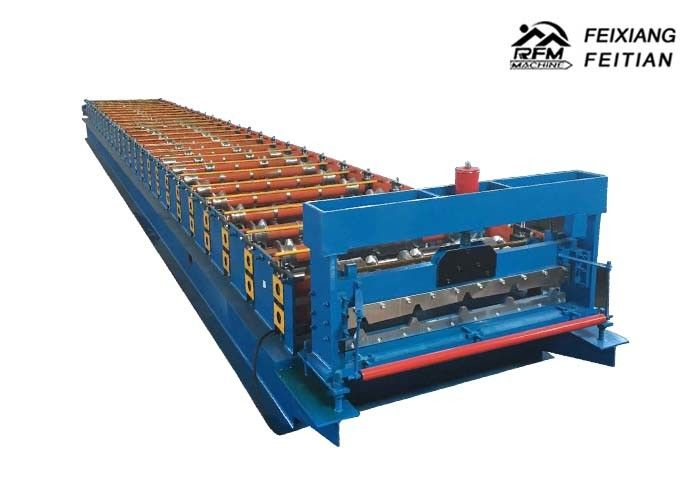 PLC Control Color Steel Roll Forming Machine 0.3 - 0.6mm Thickness For Panels