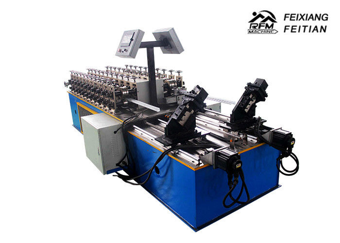 Light Gauge Keel Metal Stud And Track Roll Forming Machine 40 m/min Speed With Double Line
