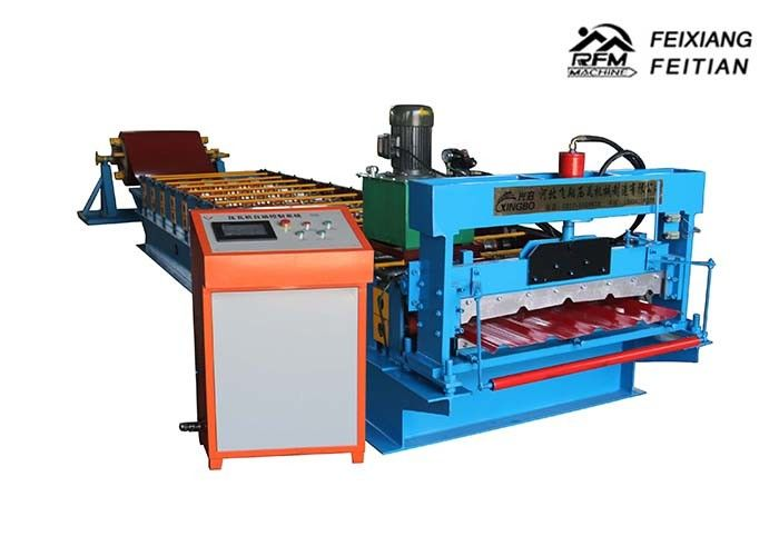 High Speed Color Steel Roll Forming Machine PLC Control System